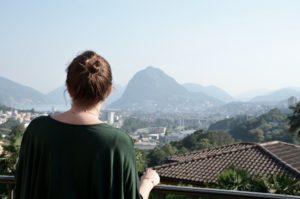 Guardando Lugano dall'alto