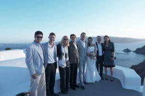 Foto di gruppo a Santorini