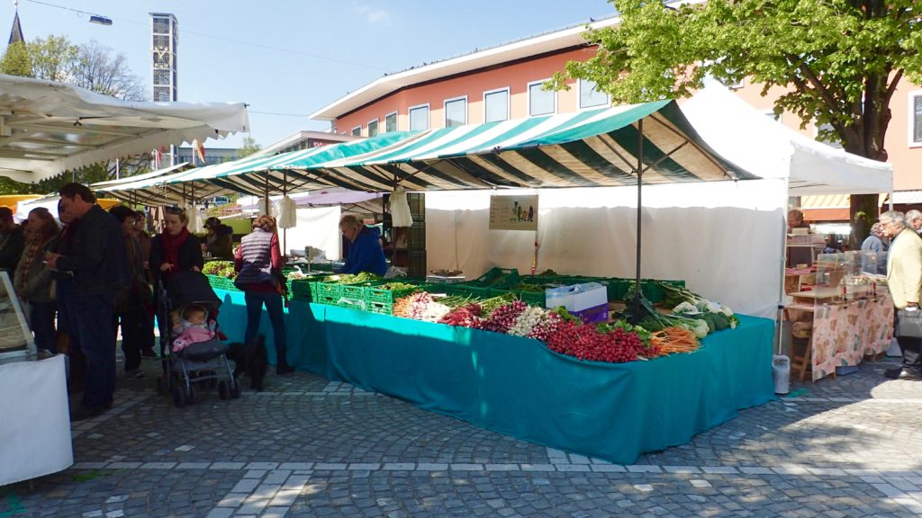 mercato della frutta e verdura a Zurigo