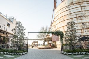 L'entrata del Magnolia Silos a Waco