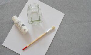 Materiale per fare un porta candela bianco in stile shabby chic