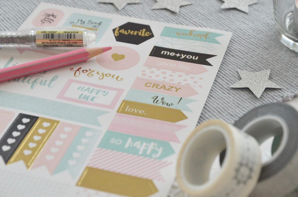 stickers nei colori pastello